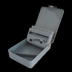 Contenitore metallico vuoto per punte elicoidali Ø da 1 a 10 mm.