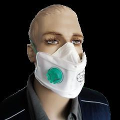 Mascherina filtrapolvere con valvola pieghevole FFP2D