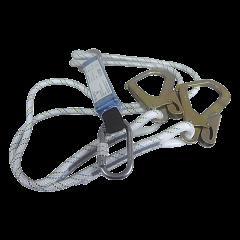 Assorbitore corda semistatica con doppio ancoraggio a norme EN 355 e EN 362