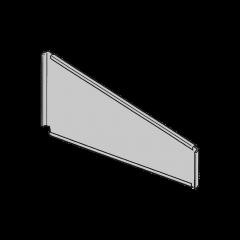 Divisorio trapezoidale per piani di scaffalatura