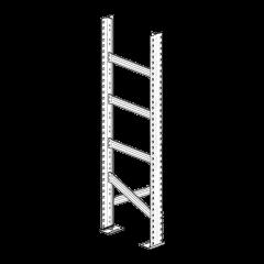 Fiancata con traverse per scaffalatura zincata