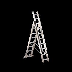 Scala in alluminio a 3 tronchi da 7 gradini ciascuno