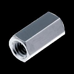 Dado distanziale esagonale zincato bianco