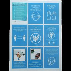 Cartello di sicurezza Covid-19 per aziende e negozi