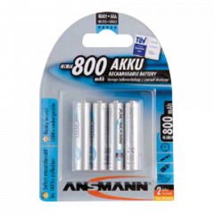 Batteria ricaricabile NiMh 1.2V AAA - 4 pezzi